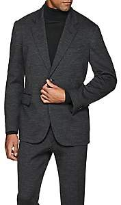 Brioni Men's New Brunico Wool Jersey Two-Button Sportcoat - Gray