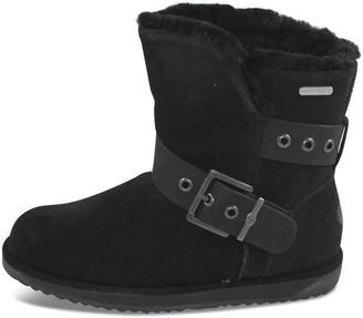 Emu Australia Black Flat Boot $204 thestylecure.com