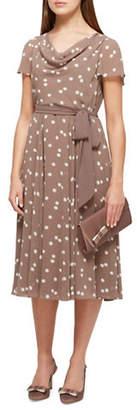 Jacques Vert Savanna Spot Fit-and-Flare Dress