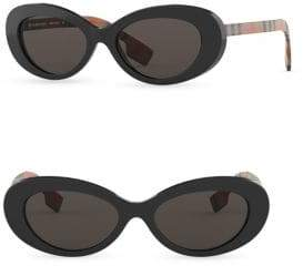 b88ec32a2a Burberry Men s 54MM Vintage Check Cat Eye Sunglasses