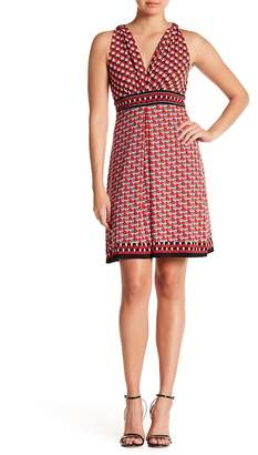 Max Studio Deep V-Neck Dress