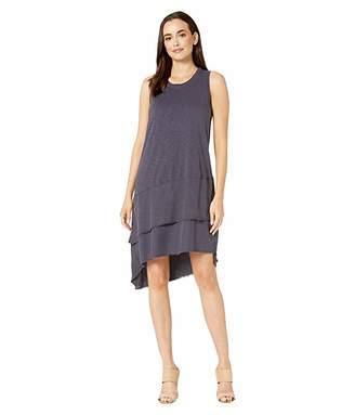 True Grit Dylan by Soft Slub Raw Seam Sleeveless Dress with Woven Hem