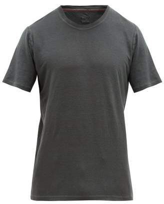 120% Lino Crew Neck Linen Jersey T Shirt - Mens - Charcoal