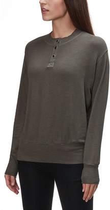 Monrow Supersoft Henley Sweatshirt - Women's