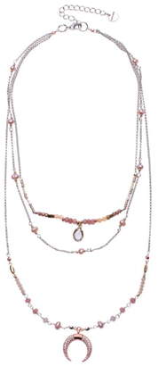 Nakamol Design Freshwater Pearl & Crescent Pendant Layered Necklace