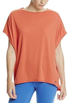 Bench Women's Geo Mesh Tee T-Shirt, (Dusty Red), (Size:Medium)
