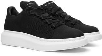 Alexander McQueen Exaggerated-Sole Mesh Sneakers - Black