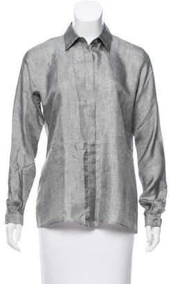 Max Mara Long Sleeve Button-Up Top