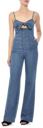 Joe's Jeans Lucia Peekaboo Denim Jumpsuit