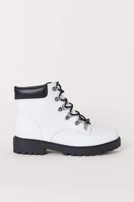H&M Pile-lined Boots - White