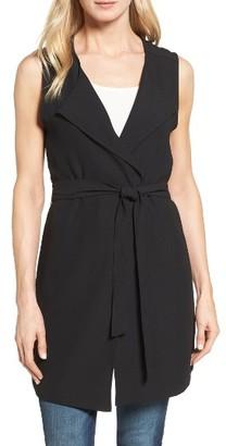 Women's Halogen Drape Front Long Vest $79 thestylecure.com