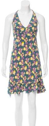 Marc Jacobs Floral Print Silk Dress