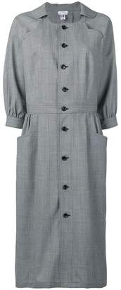 Comme des Garcons checked shirt dress