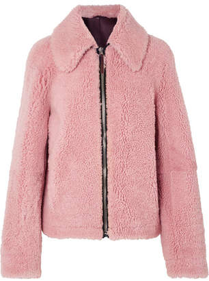 Cédric Charlier Shearling Jacket - Pink