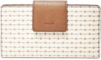Fossil Emma Printed Rfid Tab Wallet