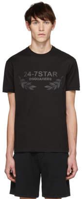 DSQUARED2 Black 24-7Star Chic Dan Fit T-Shirt