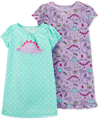 Carter's Little & Big Girls 2-Pack Printed Nightgowns