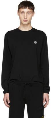 Stone Island Black Logo Patch Long Sleeve T-Shirt