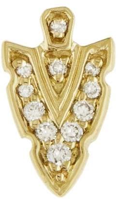 Sydney Evan Small Diamond Arrow Single Stud Earring - Yellow Gold