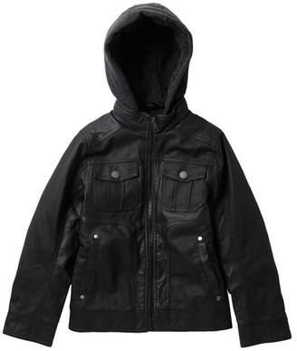 Urban Republic Faux Fur Lined Jacket (Big Boys)