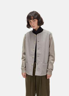 Chimala Unisex Moleskin Heavy Milanese Knit Jacket Light Grey