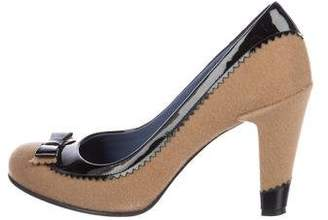Marc by Marc Jacobs Wool Round-Toe Pumps