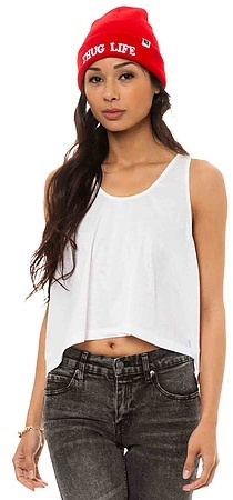 Cheap Monday The Frankie Shiny Tank Top in White
