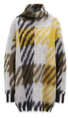 BOSS Hugo Oversized-fit turtleneck sweater in an Italian wool L Patterned