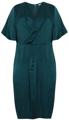 Glamorous Womens Wrap Front Midi Dress - Green