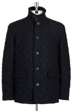 Hart Schaffner Marx Quilted Wool Coat