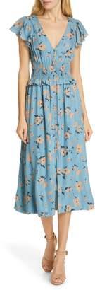 Rebecca Taylor Daniella Floral Jacquard Silk Blend Dress