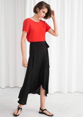 And other stories Asymmetric Wrap Midi Skirt