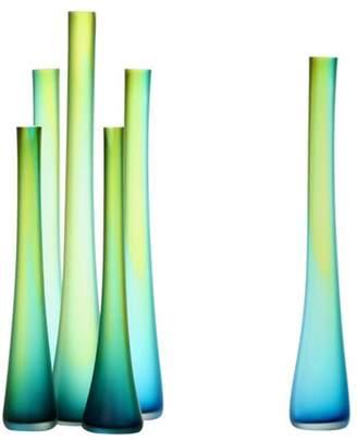"Tsunami Glassworks Hand-Blown Glass Bud Vase ""Tubes"""