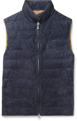Brunello Cucinelli Quilted Suede Gilet
