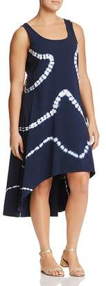 Andrew Marc Plus Tie-Dyed High/Low Tank Dress