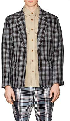 Gosha Rubchinskiy Men's Plaid Twill Two-Button Sportcoat