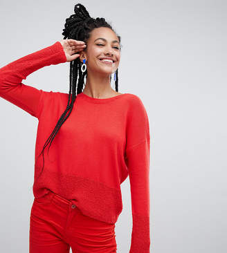 Esprit lightweight oversized jumper in red