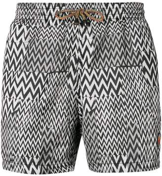 Missoni zig-zag print swim shorts
