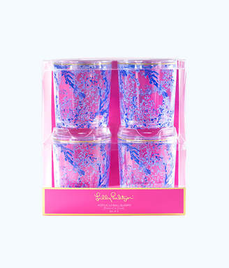 Lilly Pulitzer Lo Ball Glass