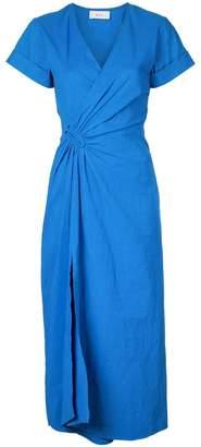 A.L.C. short-sleeve flared midi dress