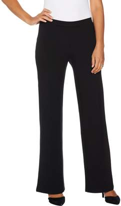 Halston H By H by Regular Pull-On VIP Ponte Wide Leg Pants