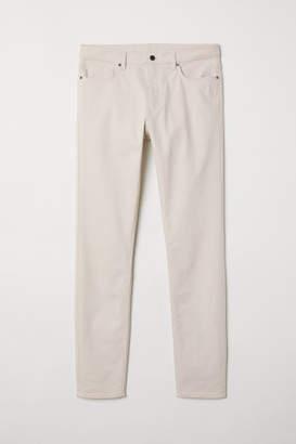 H&M Twill Pants Skinny fit - Beige