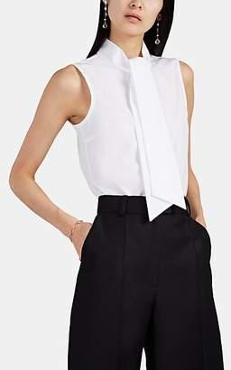 91b47dd34f0b6 Martin Grant Women s Cotton Poplin Sleeveless Tieneck Blouse - White