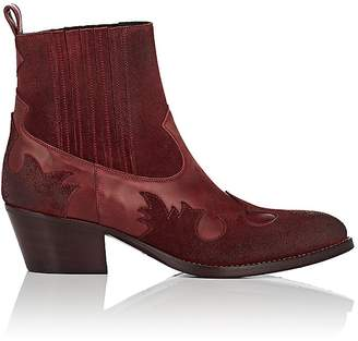 Barneys New York Women's Leather & Suede Western Ankle Boots