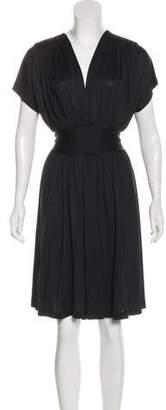 Balenciaga Silk Jersey Knee-Length Dress