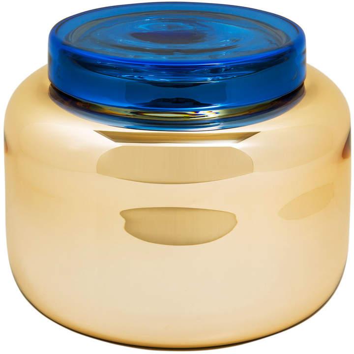 Pulpo - Low Container, orange / Deckel blau