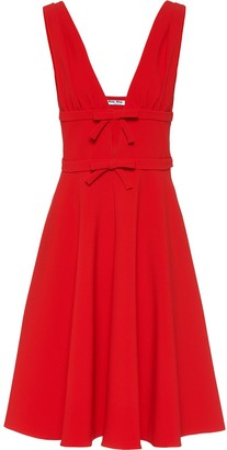 Miu Miu bow detail sleeveless dress