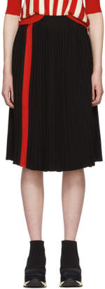 Marni Black Pleated Stripe Skirt