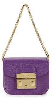 Furla Metropolis Flap Leather Mini Shoulder Bag