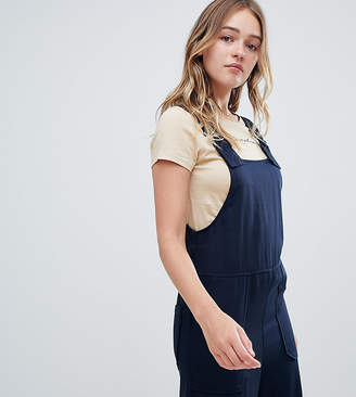 Monki wide leg dungarees in navy